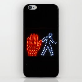 Stop or Walk iPhone Skin