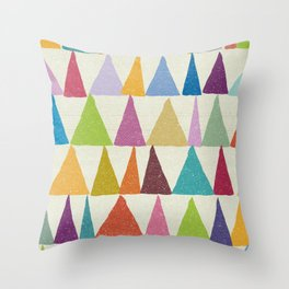 Analogous Shapes In Bloom. Throw Pillow