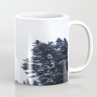 skiing Mugs featuring Skiing Copper by Amelia Vilona