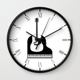 Piano and Guitar Wall Clock