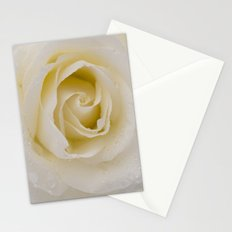 Rose White Stationery Cards