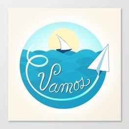 Vamos (Let's go) - Beach Canvas Print