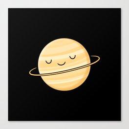 Happy Planet Saturn Canvas Print