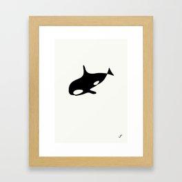killer whale Framed Art Print