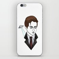 mulder iPhone & iPod Skins featuring spooky mulder by Bunny Miele