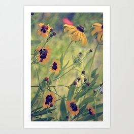 Golden Garden Art Print