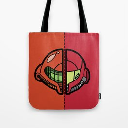Old & New Samus Aran Tote Bag