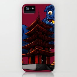 a Dog a Panic in a Pagoda iPhone Case