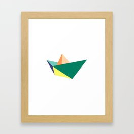 Fune, original colours on white Framed Art Print