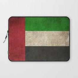 Old and Worn Distressed Vintage Flag of United Arab Emirates Laptop Sleeve
