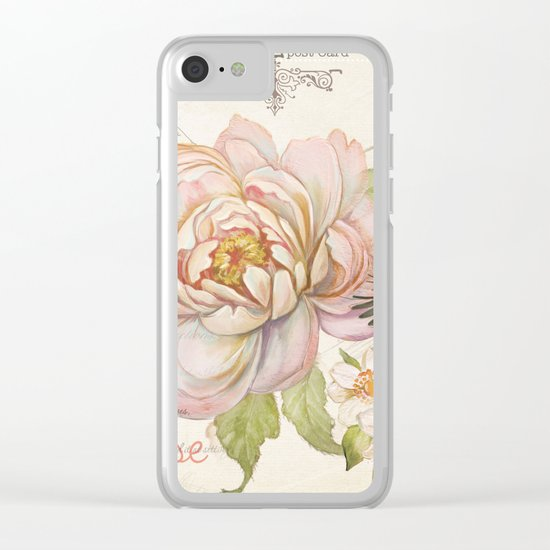 Macro flower #9 Clear iPhone Case