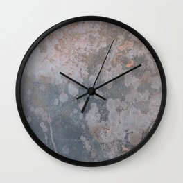 Grunge old metal rusty surface Wall Clock