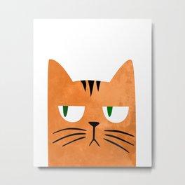 Orange cat with attitude Metal Print