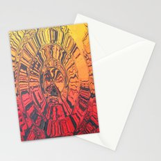 A Drop of Water Falls in the Forest at Sundown Stationery Cards