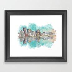 Pittsburgh Sunset Framed Art Print
