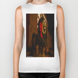 Chicago's Lions in Winter #3 (Chicago Christmas/Holiday Collection) Biker Tank