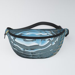 Quilt POV Ray Tracing Fanny Pack