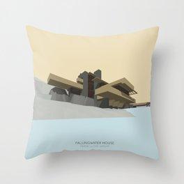 Fallingwater house Throw Pillow