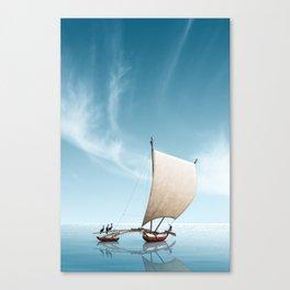 Gone fishing - Sailing seven seas Canvas Print