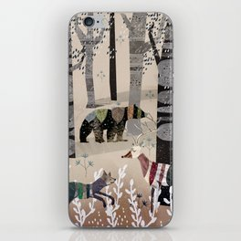Forest in Sweater iPhone Skin