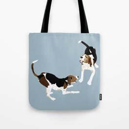 Coonhound Play Tote Bag