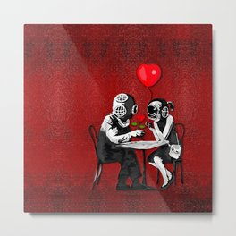 Banksy the Steampunk couple Metal Print