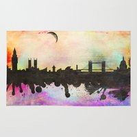 london Area & Throw Rugs featuring london by mark ashkenazi