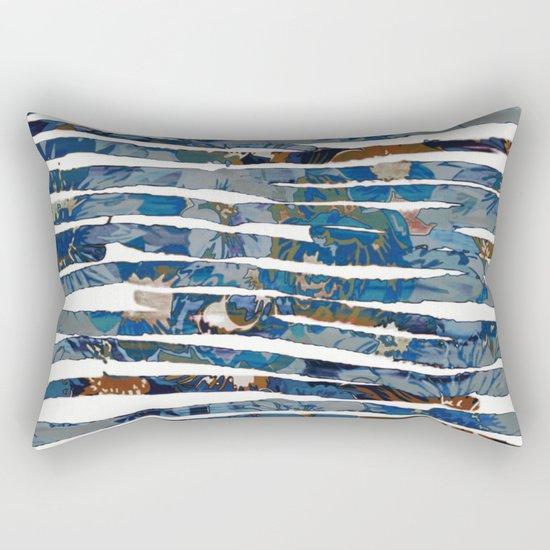 floral cut into stripes Rectangular Pillow