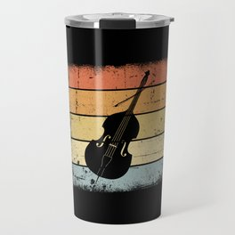 Double Bass Retro Travel Mug
