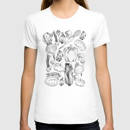 market fresh vegetables T-shirt