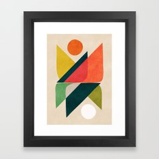 Reflection (of time and space) Framed Art Print
