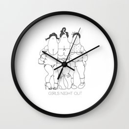 Girls Night Out Wall Clock