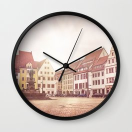 Freiberg, Germany Town Square Wall Clock