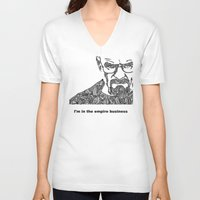 walter white V-neck T-shirts featuring Walter White by christoph_loves_drawing