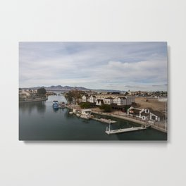 view from London Bridge, Lake Havasu City, Arizona Metal Print