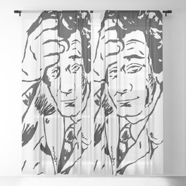Lieutenant Columbo Portrait Sheer Curtain