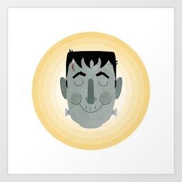 Frank the Happy Monster Art Print