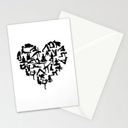 yoga heart Stationery Cards