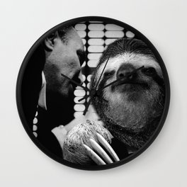 Sloth as Godfather Wall Clock