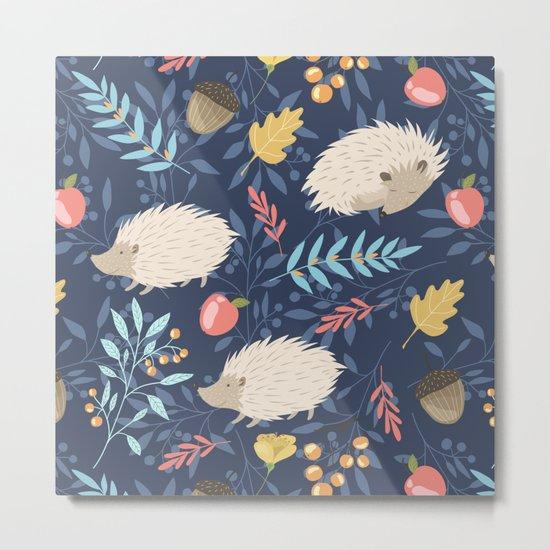 White hedgehogs Metal Print