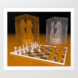 chessworld scholar's mate -2- Art Print
