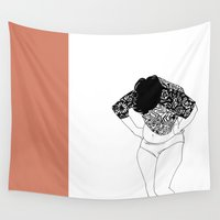 baroque Wall Tapestries featuring Pink Baroque by Farbstiftebox