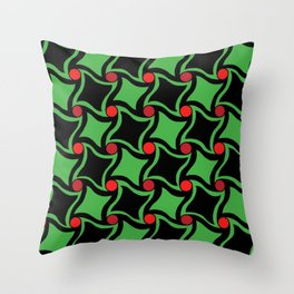 Twisted squares Throw Pillow