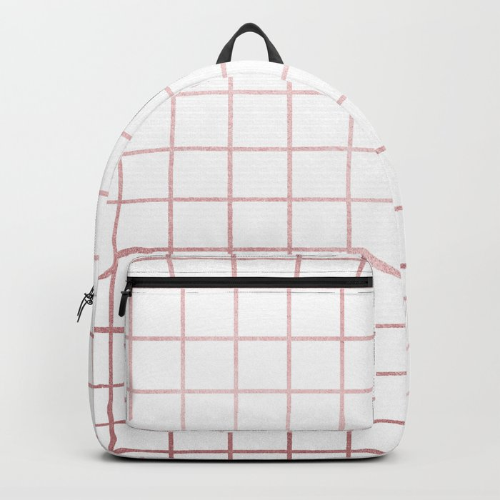 Simply Grid in Rose Gold Sunset Backpack