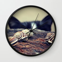 Cat Snails Wall Clock