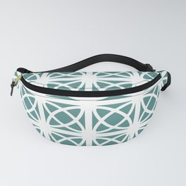 Mid Century Modern Atomic Rings 621 Teal Green Fanny Pack