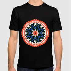 Bold and bright beauty of suzani patterns ver.6 Mens Fitted Tee MEDIUM Black
