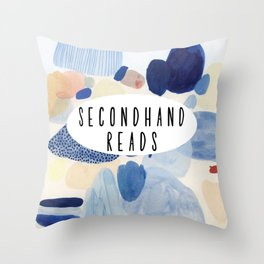 Secondhand Reads Throw Pillow