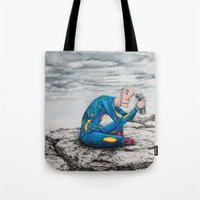 spaceman Tote Bags featuring Spaceman by Neal Julian