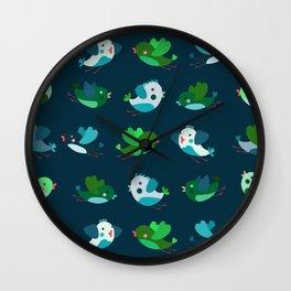 Spring Time Birds Wall Clock